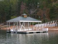 26'x30' Slip Dock w/ Hipped Roof and Cupola