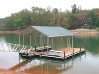 24'x28' Slip Dock w/ Steep Gabled Roof