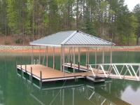 26'x28' Slip Dock w/Hipped Roof