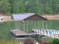 24'x28' Slip Dock w/Gable-Plus Roof