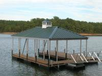 24'x28' Slip Dock w/Hip Roof and Light House Cupola