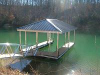18'x28' Slip Dock w/Hip Roof