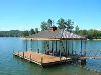 26'x28' Slip Dock w/Painted Walkway and Roof Posts
